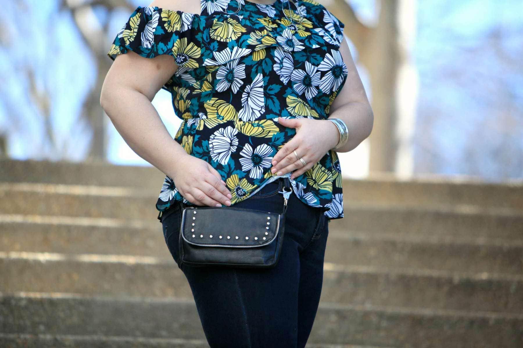 leather hip bag fanny pack belt loop bag