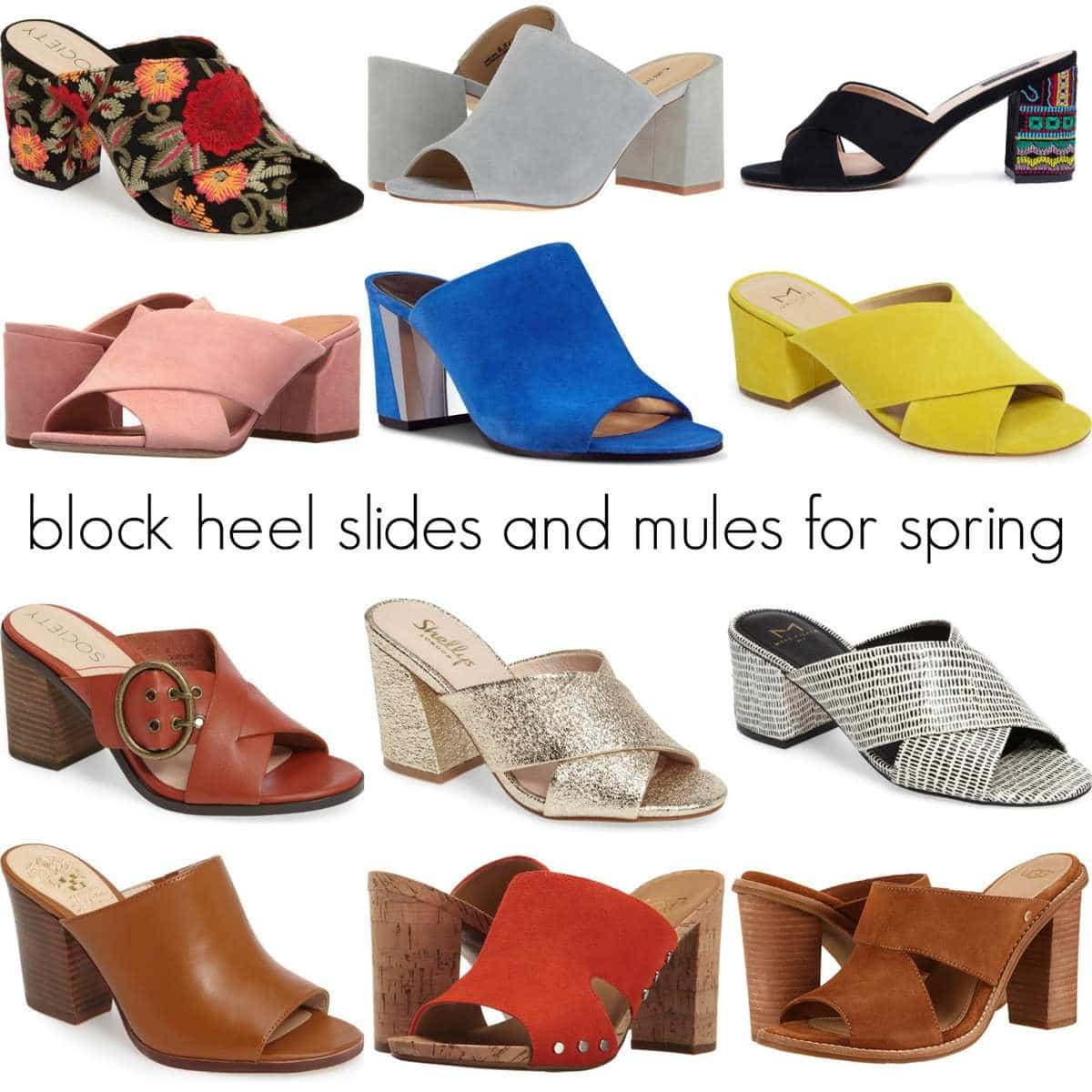spring shoe trend - block heel slides and mules by Wardrobe Oxygen