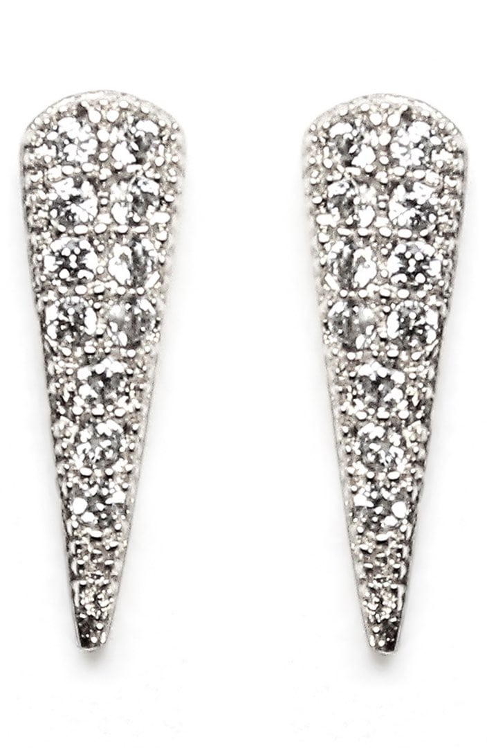 Melanie Auld Pave Cubic Zirconia Spike Earrings