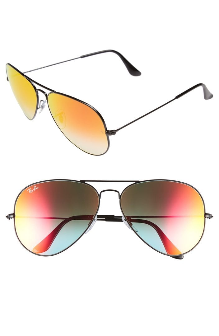 Ray-Ban 62mm aviators black/red