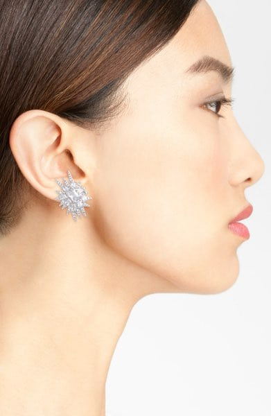 CZ by Kenneth Jay Lane 'Explosion' Cubic Zirconia Stud Earrings