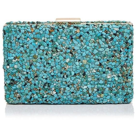 Sondra Roberts Stone Clutch - Turquoise