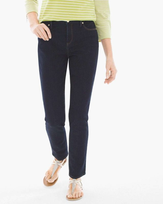 Chico's girlfriend jeans ankle indigo