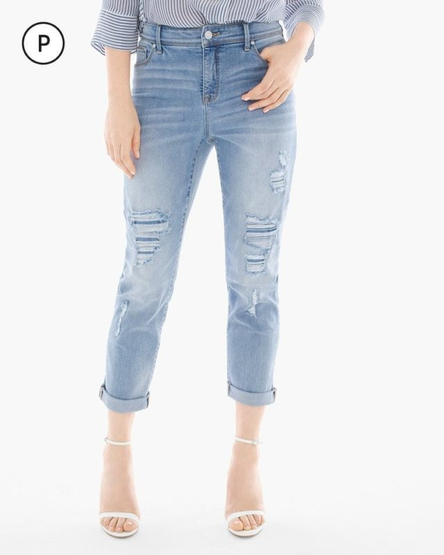 Chico's So Slimming Girlfriend jean destructed