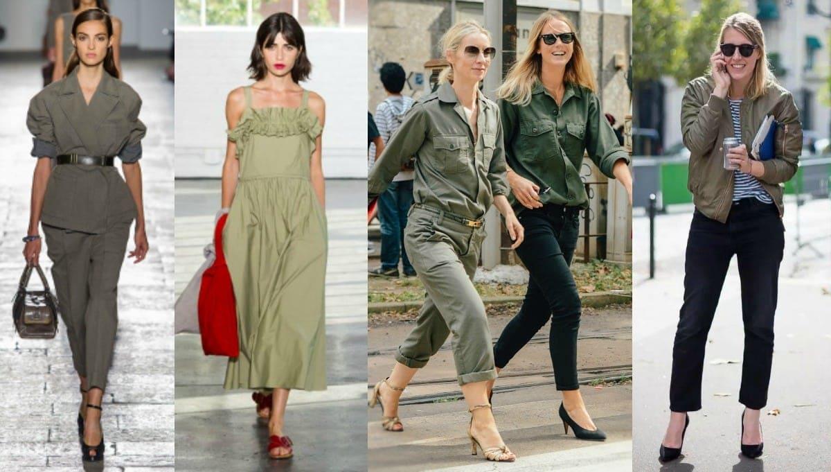 Olive Khaki Fashion Trend Spring Summer 2017