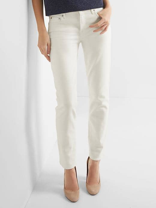 Gap real straight jeans white