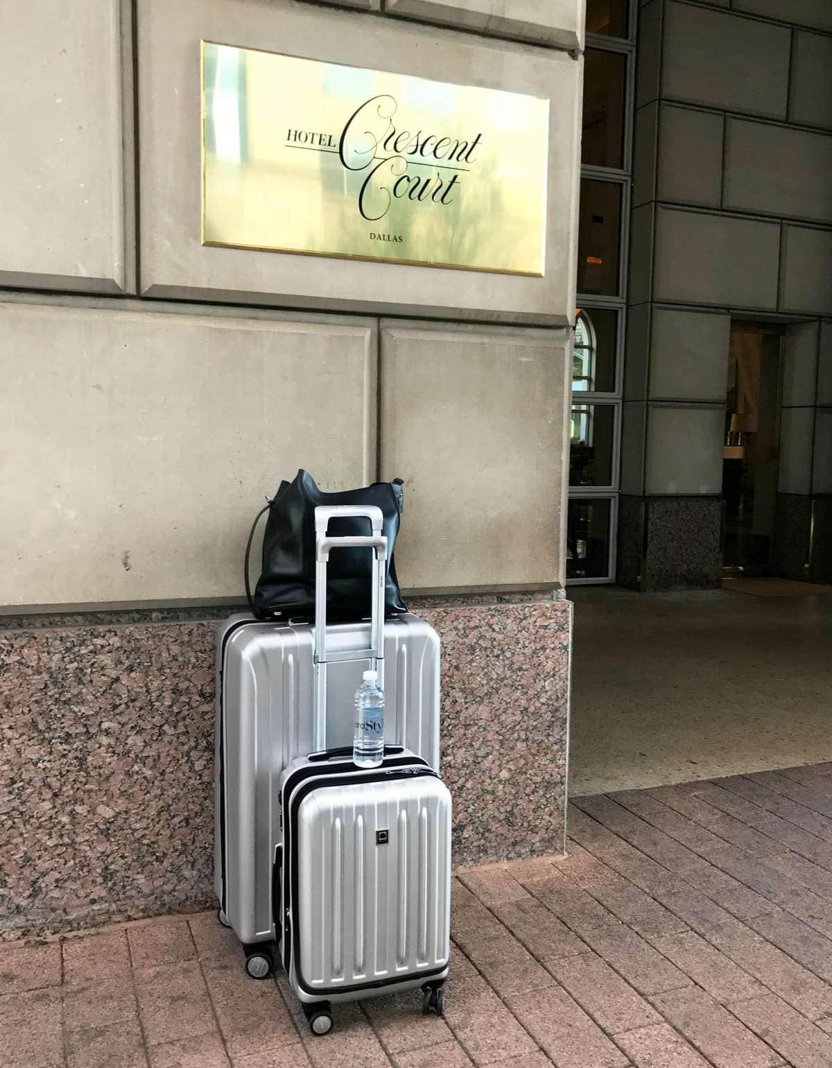 delsey titanium suitcase