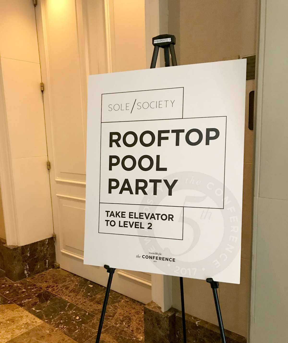 sole sociaety rooftop pool party rsthecon rewardstyle conference 2017