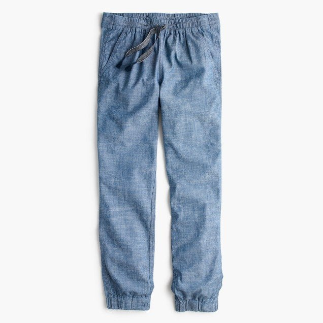 J. Crew Seaside Pant in Chambray