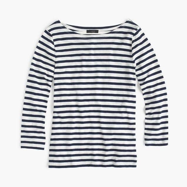 J. Crew Striped Boatneck T-Shirt