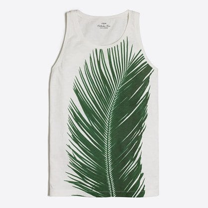 palm leaf collector tank top J. Crew Factory