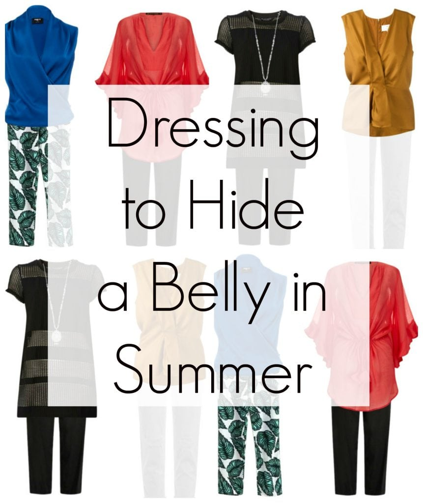 Tips on how to hide your belly with fashion this summer by Wardrobe Oxygen