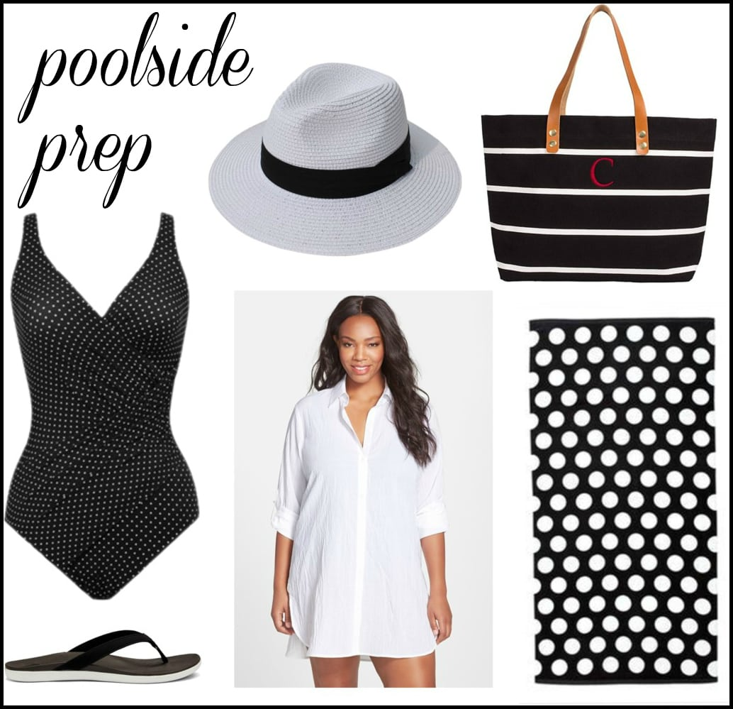 stylish plus size look for the beach or pool