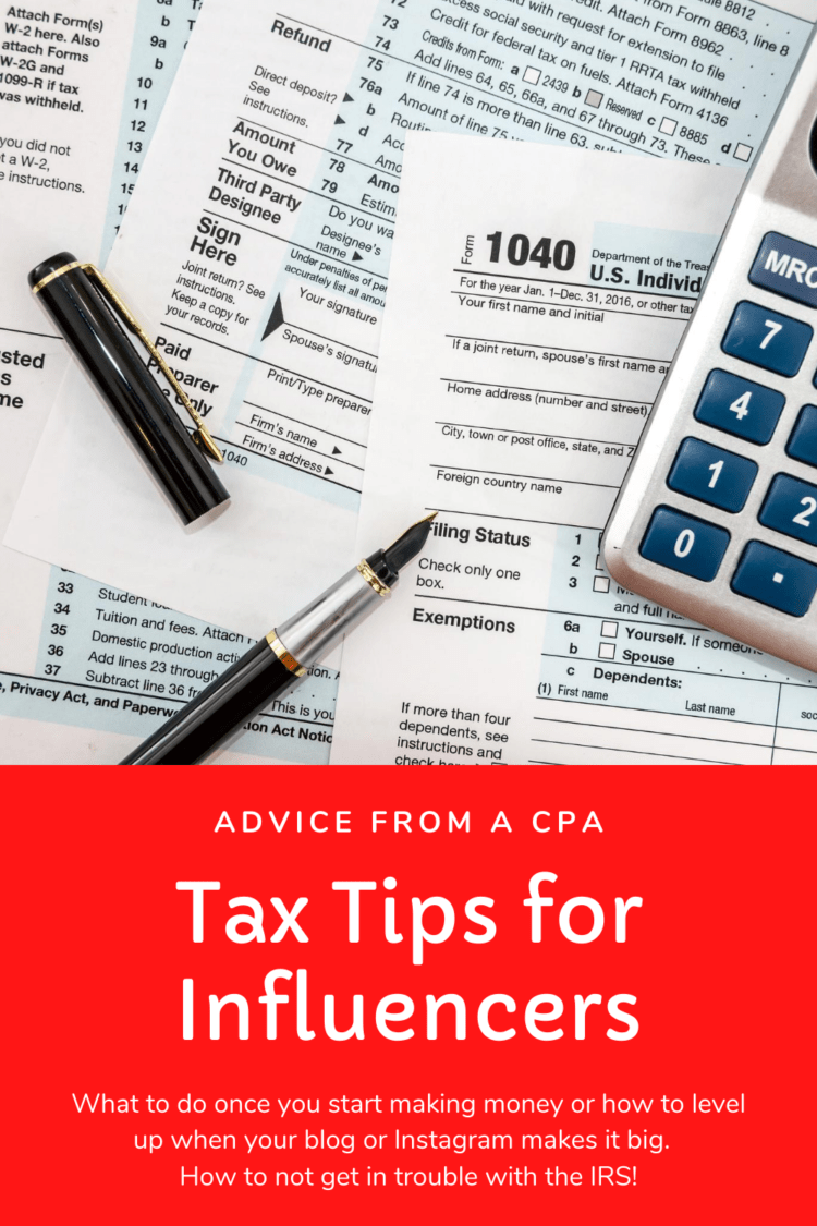 tax tips for influencers from an accountant