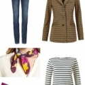 cabi Standout blazer styled for fall with jeans, a Breton tee, and Aerosoles Subway pumps