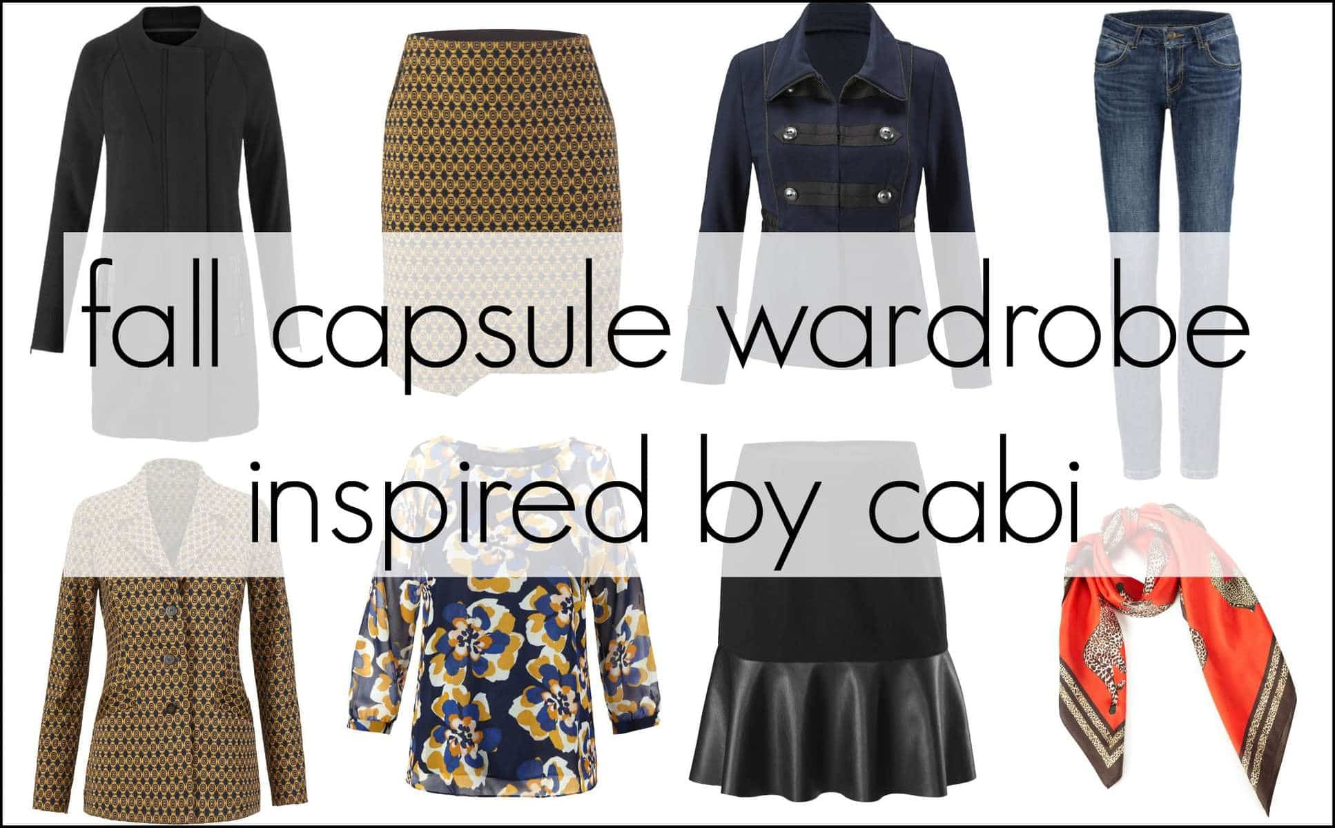 fall capsule wardrobe featuring cabi