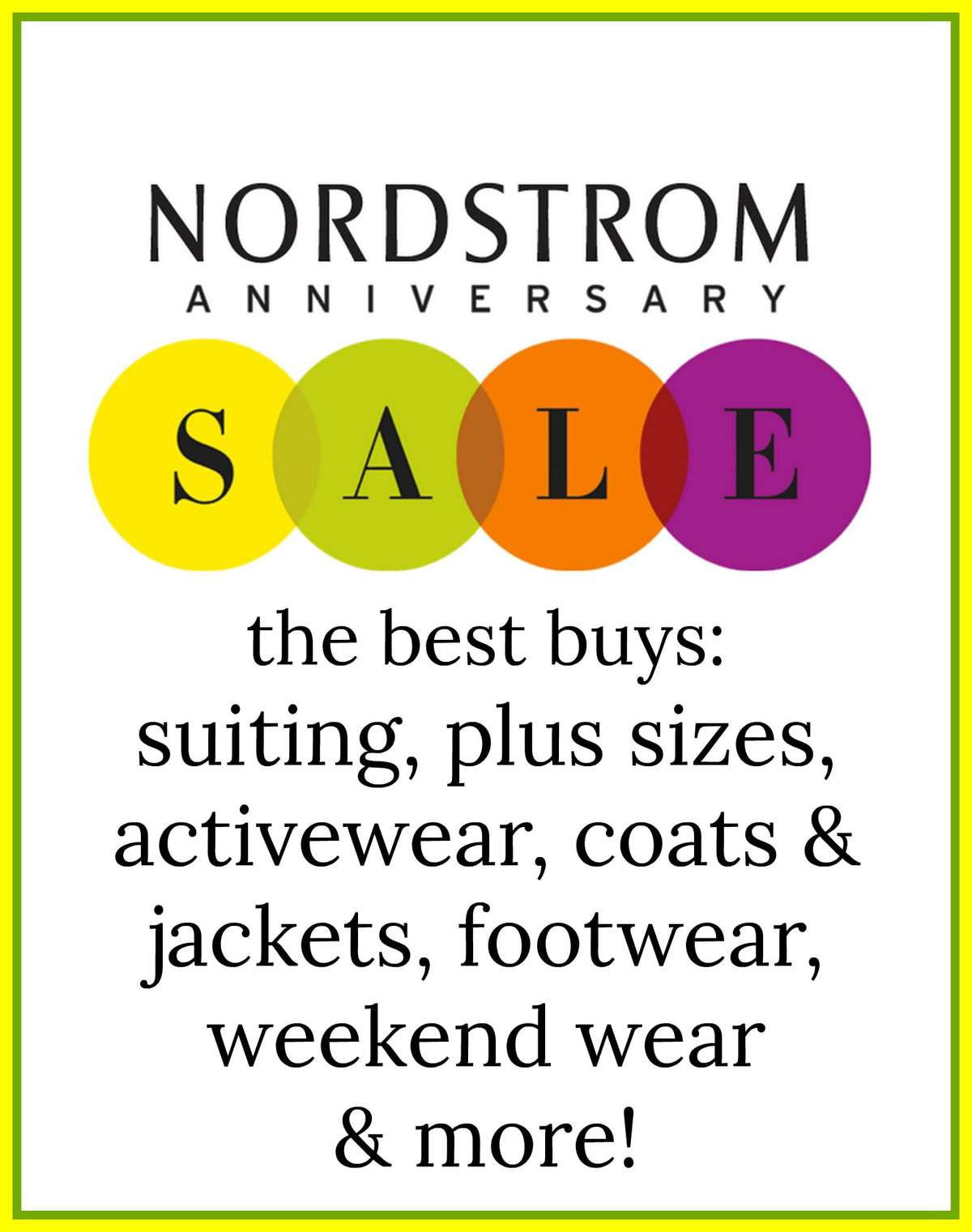 nordstrom anniversary sale shopping guide