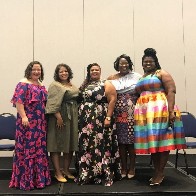 TCFStyle Expo Panel: Style has No Age or Size featuring Grown and Curvy Woman, The Jenesaisquoi, The Real Sample Size, Suits Heels & Curves, and Wardrobe Oxygen