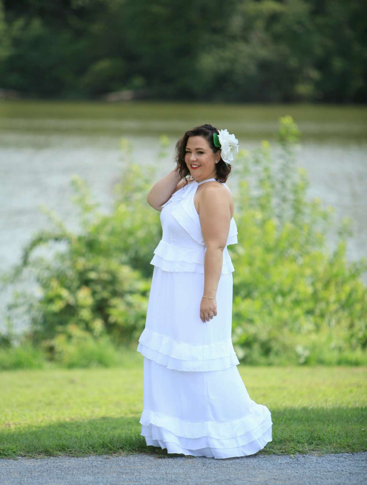 White Studio Tiered Flounce dress from ELOQUII: what I wore to Dîner en Blanc DC