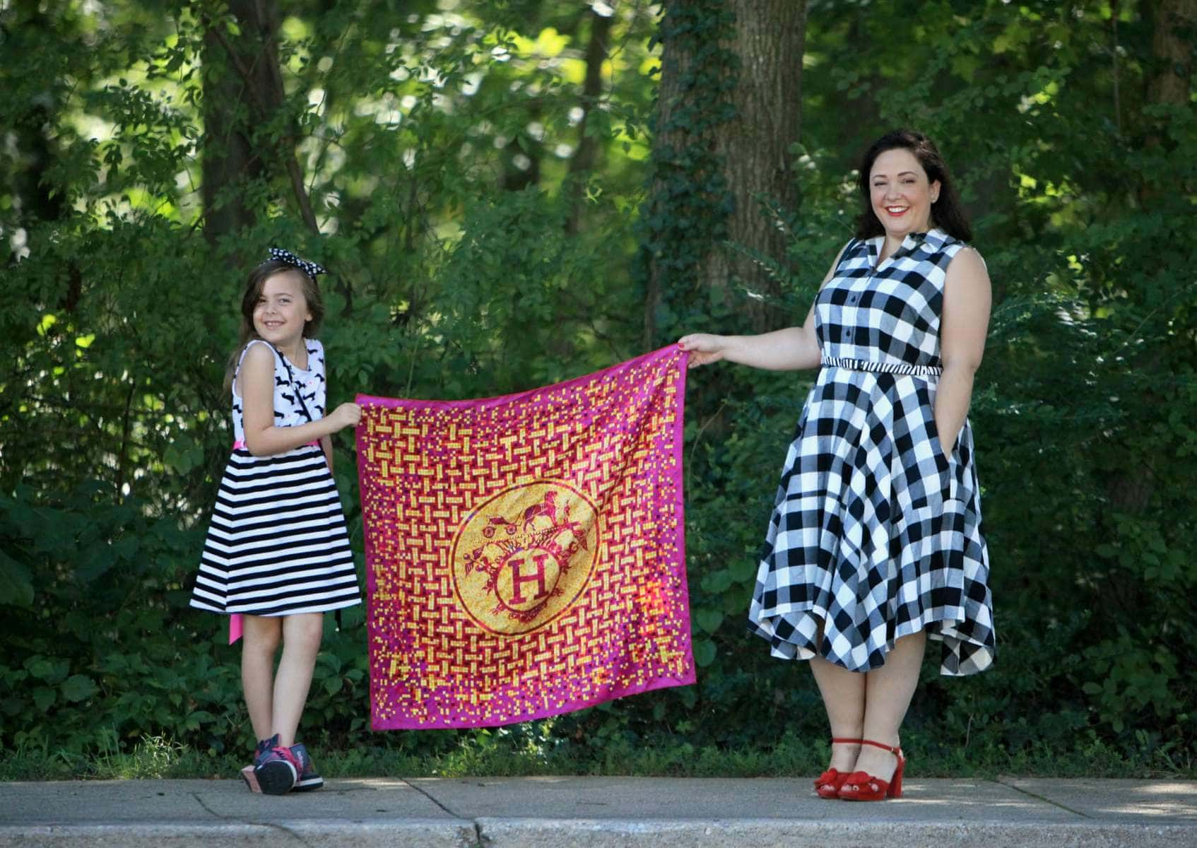 hermes mosaique au 24 scarf in magenta