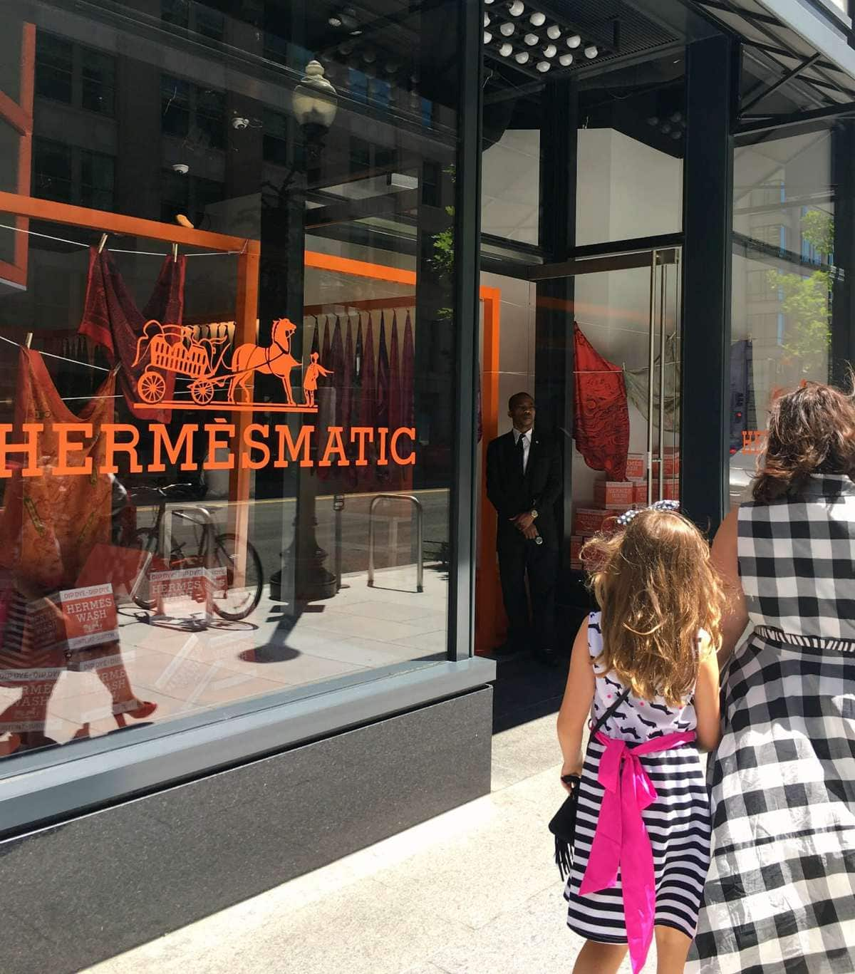 City Centre Dc: What I Wore: Hermès And Gingham