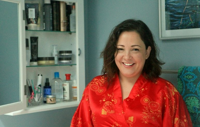 Wardrobe Oxygen's evening skincare routine featuring Colleen Rothschild