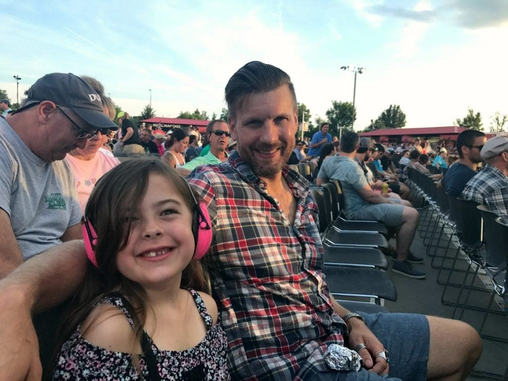 taking our kid to her first concert - my morning jacket