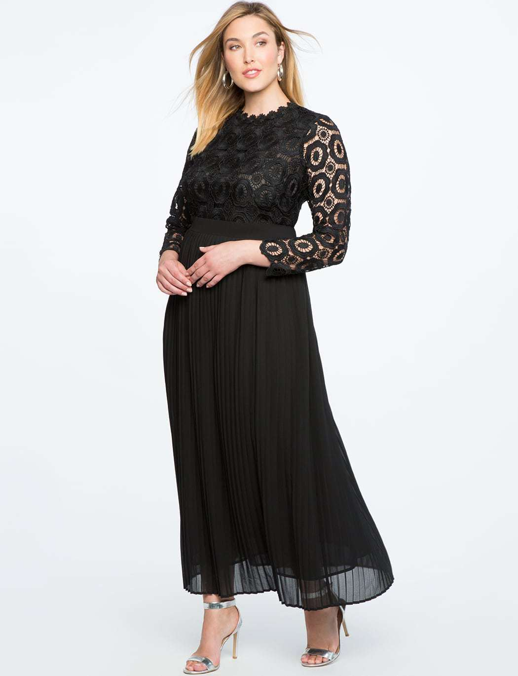 ELOQUII plus size lace evening dress