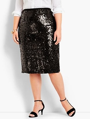 plus size sequin pencil skirt from Talbots