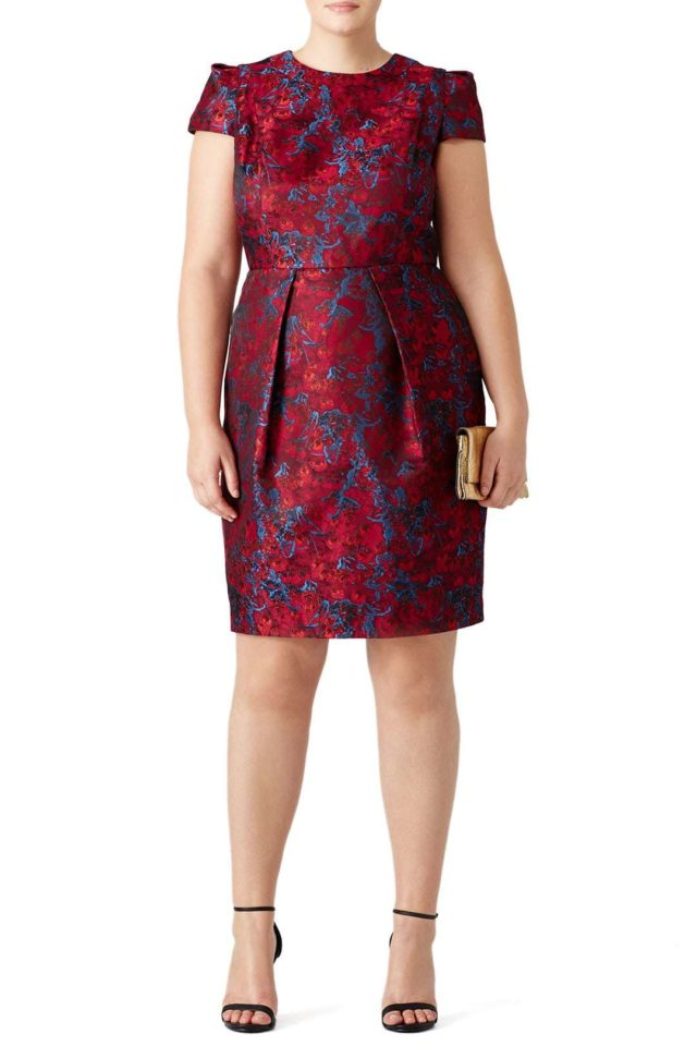 Carmen Marc Valvo plus size cocktail dress from Rent the Runway