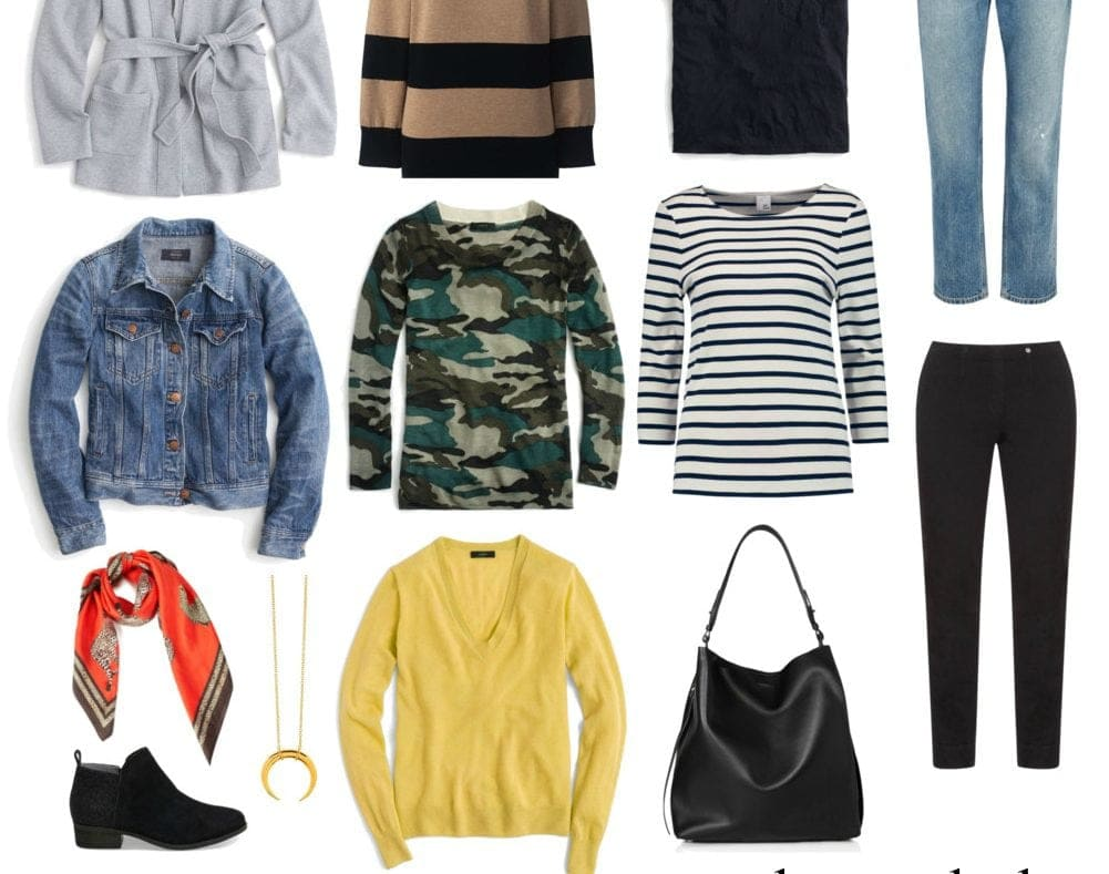 Capsule wardrobe weekend casual style for fall