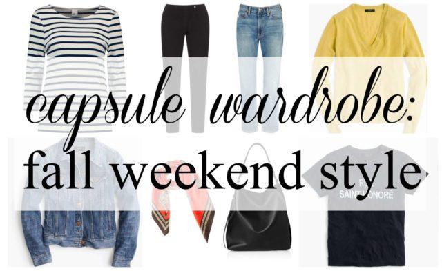 capsule wardrobe fall weekend style by wardrobe oxygen