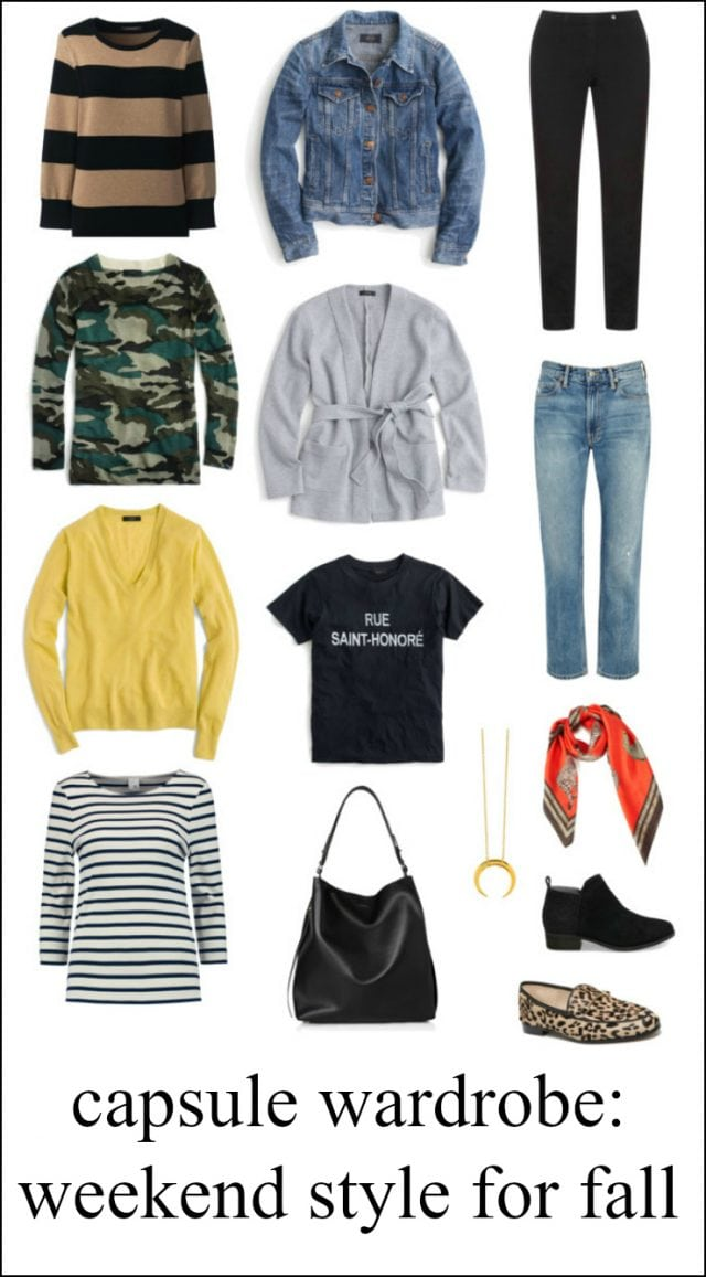 capsule wardrobe weekend fall