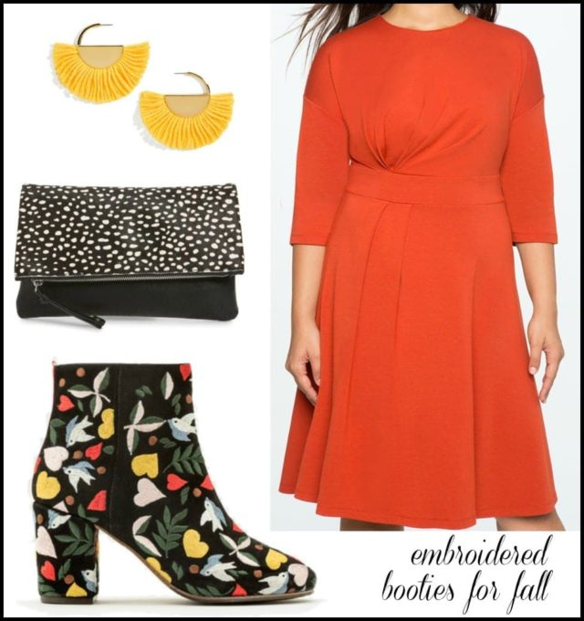 how to wear ankle booties with a dress