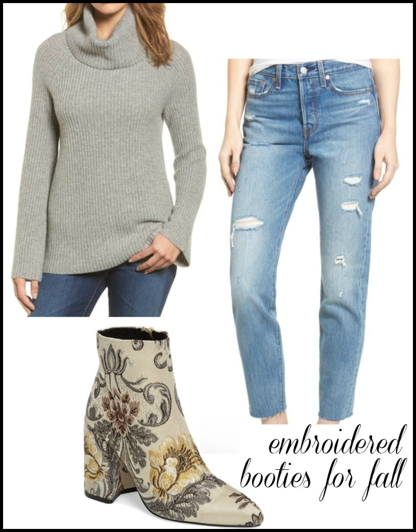 how to wear ankle booties with jeans for fall