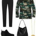 Camo is a hot trend for this season; it's chic and polished in refined merino wool.
