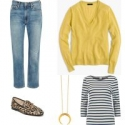 Layering lightweight fabrics adds warmth without bulk; the gold necklace keeps this from looking juvenile.