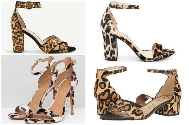 the best leopard print shoes for fall featured by popular DC petite fashion blogger, Wardrobe Oxygen: sandals