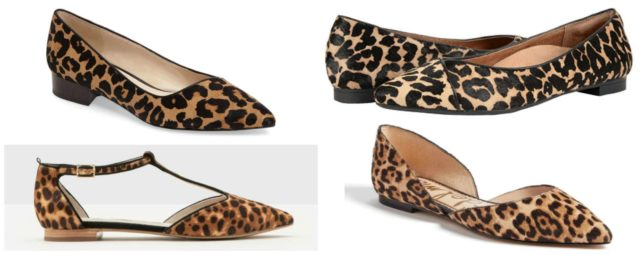 the best leopard print shoes for fall featured by popular DC petite fashion blogger, Wardrobe Oxygen: flats