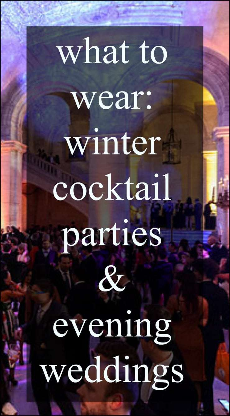 what to wear to winter cocktail parties and evening weddings - picks for plus size and over 40 women included. By Wardrobe Oxygen