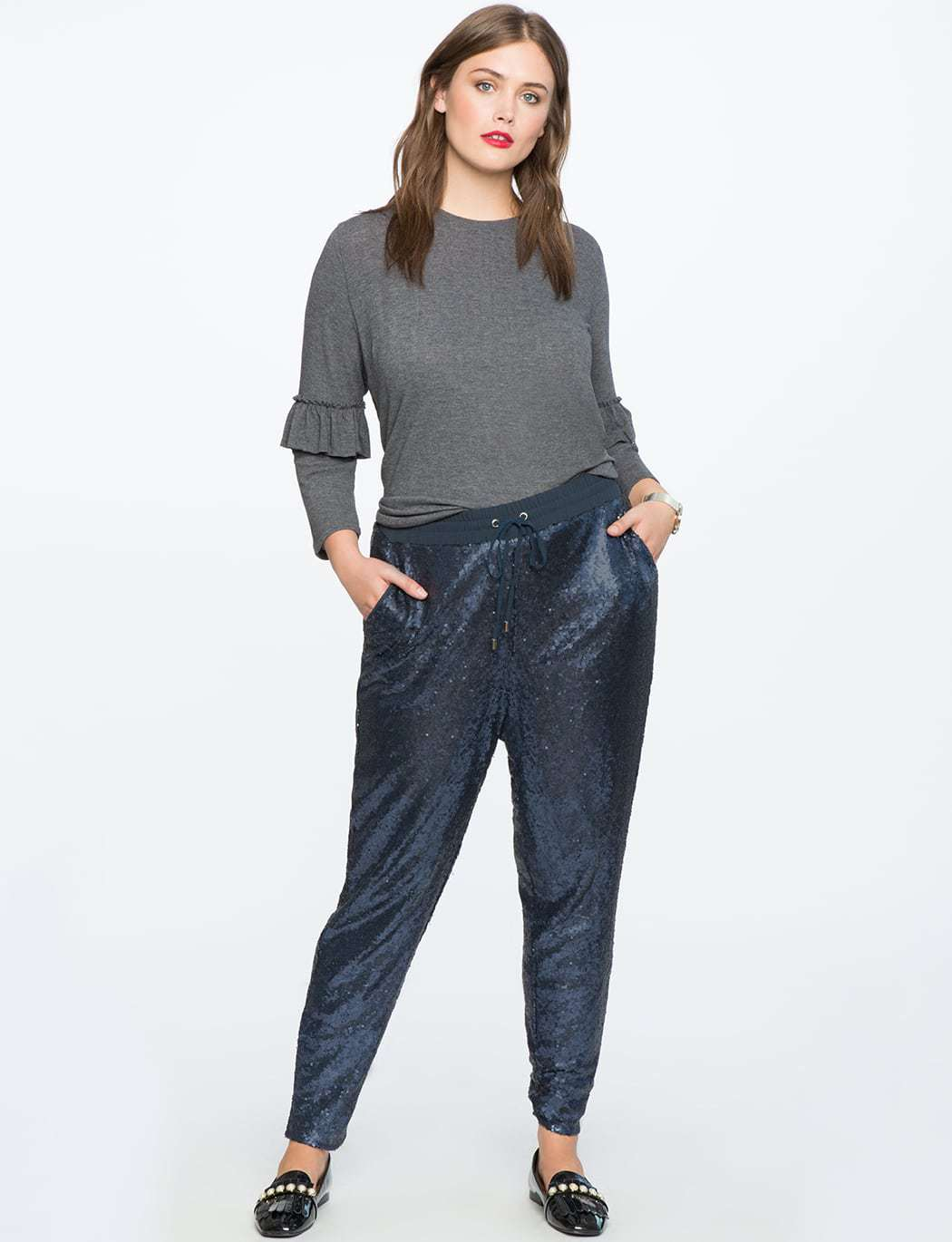 ELOQUII Review: Sequin Pull-on Pant