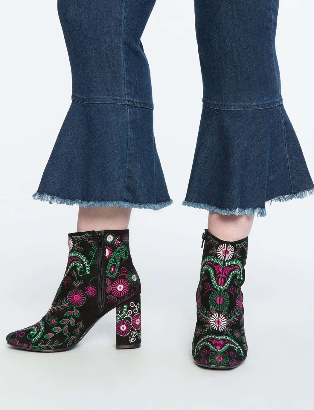 ELOQUII Review: Harper Embroidered Bootie