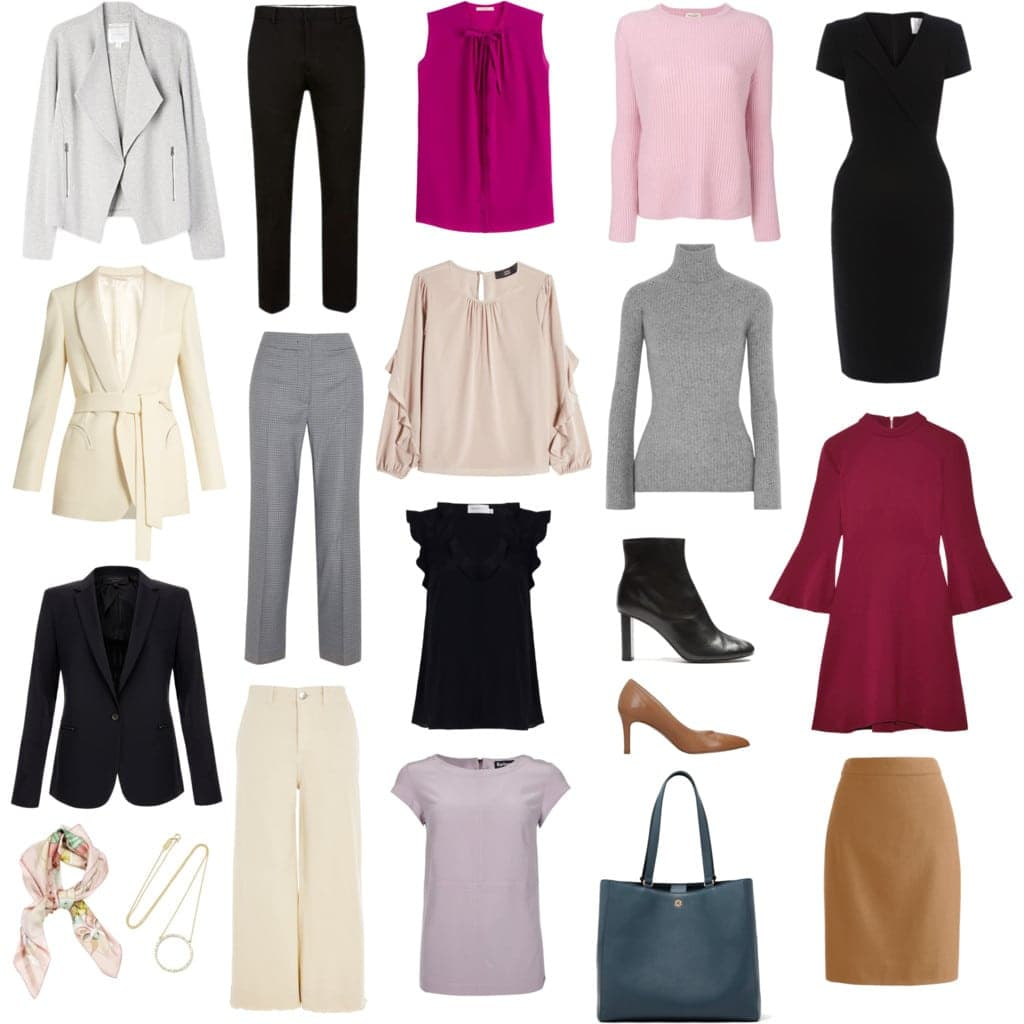 capsule wardrobe fall winter office professional workplace fashion