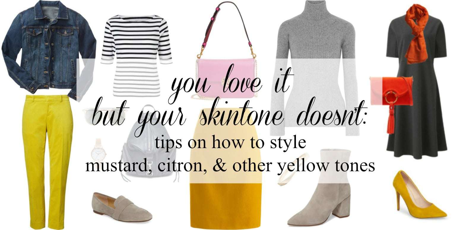how to wear yellow with your skintone - tips by wardrobe oxygen