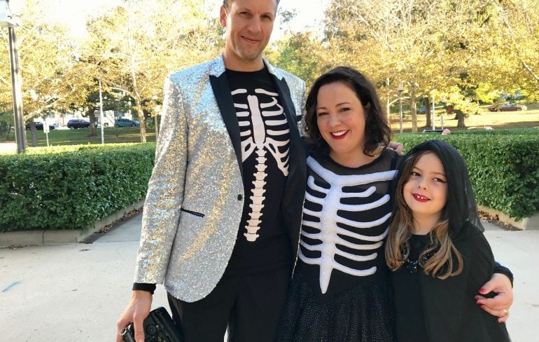 skeleton costume family
