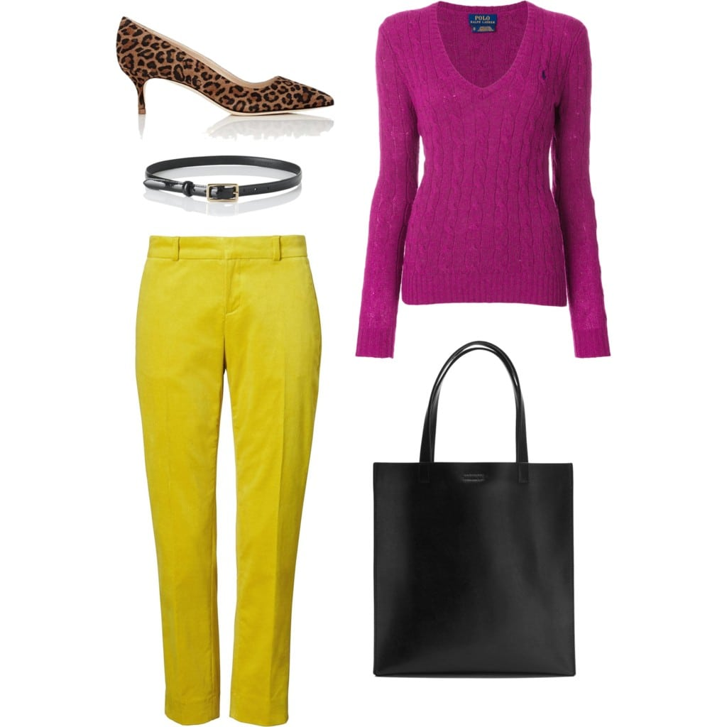 what colors to wear with citron or mustard