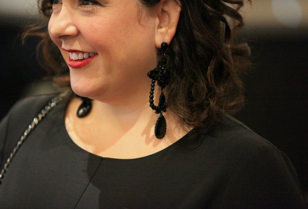 Simply Vera Vera Wang for Kohl's black chandelier earrings