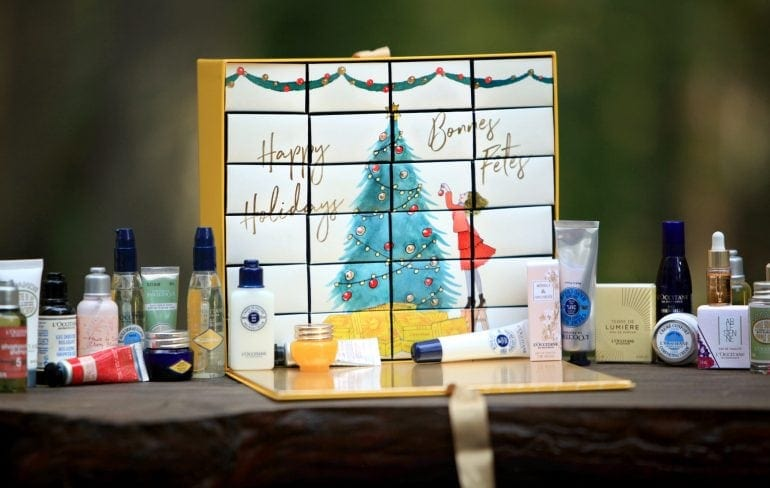 loccitane luxury advent calendar contents