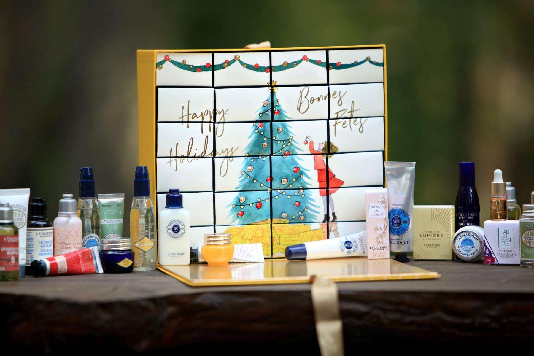 loccitane luxury advent calendar contents