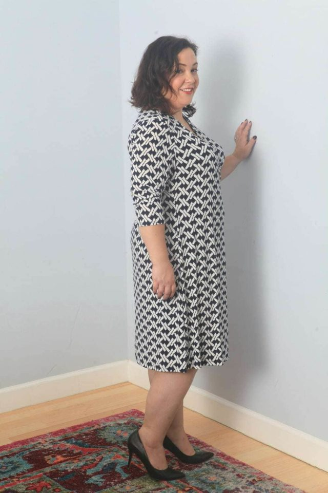 e7a0cca786f This is the Carenza Faux Wrap Jersey dress from Gilli